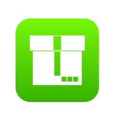 Box icon digital green vector