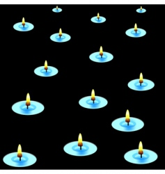 Candles in the dark vector