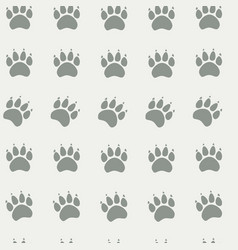 cat or dog paw seamless pattern - animal vector image