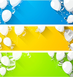 Celebrate backgrounds with flat balloons vector image