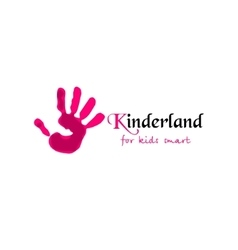 Colorful Hand print Kinderland vector