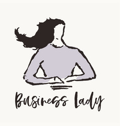 concept business woman business lady drawn vector image