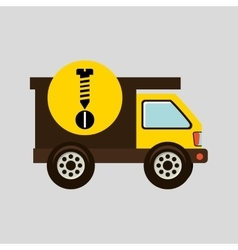 Construction gear icon screw bolt vector