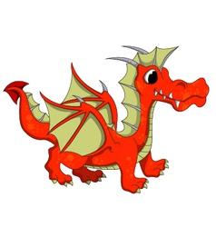 Cute dragon cartoon vector