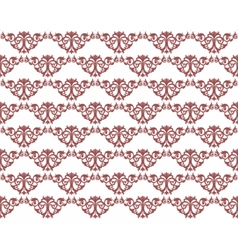Damask style ornament pattern vector