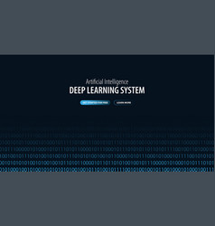 Deep learning system website or mobile app vector