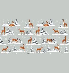 deer winter vector image