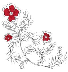 Doodle Flowers vector