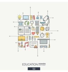 Education integrated thin line symbols Modern vector image