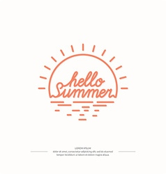 Emblem Hello summer vector image