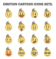 Emotion icon vector image