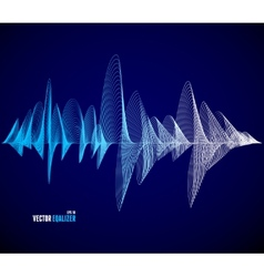 equalizer musical bar Dark background vector image