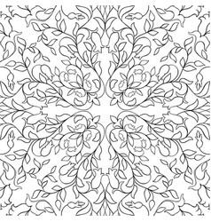 Filigree floral pattern vector