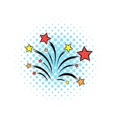 Firework comics icon vector