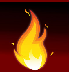 flames image vector image