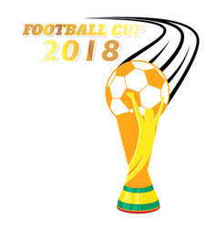 football cup 2018 flying championship cup white ba vector image