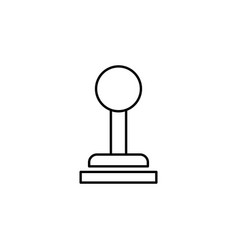 Gear shift controls lever icon can be used for vector