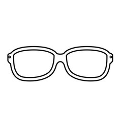 glasses optical lens vector image