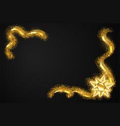 gold ribbon frame golden serpentine design vector image