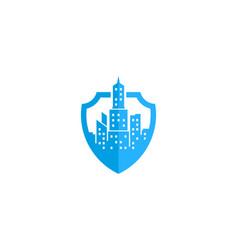 guard town logo icon design vector image