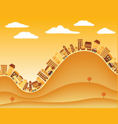 hill town vector image