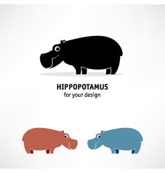 Hippopotamus icon vector