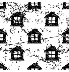 House pattern grunge monochrome vector