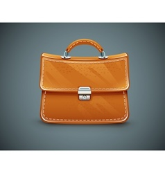 Leather briefcase vector