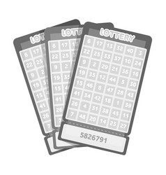 Lottery tickets chance to win the jackpot vector