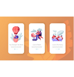 love relation concept for mobile app page vector image