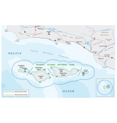 Map channel islands national park vector