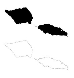 Map samoa isolated black on vector