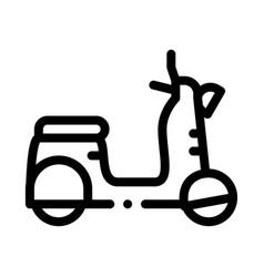 Mobile motobike icon outline vector