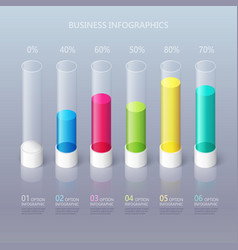 Modern abstract 3d cylindrical infographic vector
