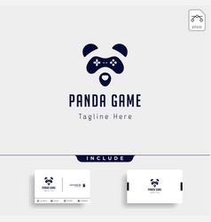 Panda game logo design template animal concept vector