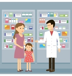 Pharmacist Woman Kid vector image