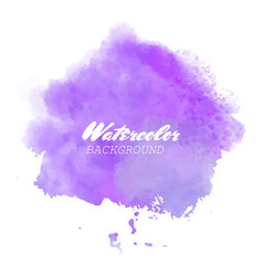 purple watercolor background vector image