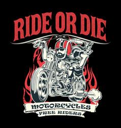 ride motorcyes vintage vector image