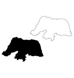 rio grande do norte map vector image