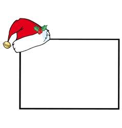 Santas Hat A Blank Sign vector