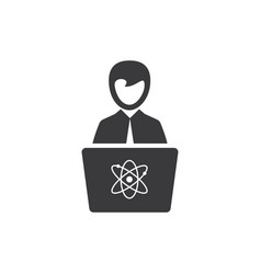 science lecture icon vector image