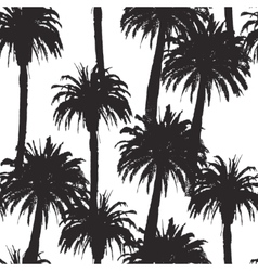 Seamless pattern with palm trees in vector image