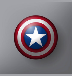 shield with a star vector image