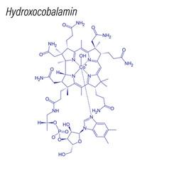 Skeletal formula drug chemical molecule vector