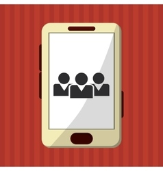 Smartphone design Media icon Flat vector image