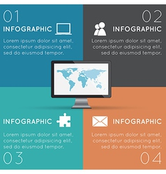 Squares Infographics vector image