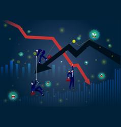 Stock markets plunge from novel covid-19 virus vector