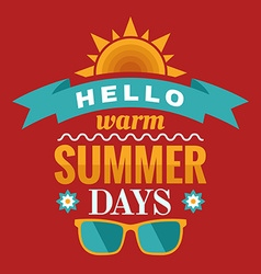 Summer typography vector image