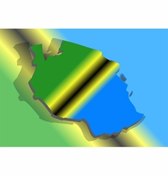 Tanzania and abstract flag vector