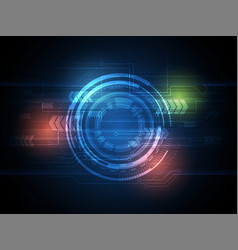 Tech circle and technology background speed vector